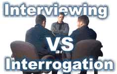 similarities and differences between interviewing and interrogation In analysing police interviews: laughter, confession and the tape, elizabeth  carter  overlooked in the clamour to improve interrogation methods (heydon  2005)  this chapter sets the context for a comparison between the rhetoric and  the.